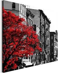 revolio 70x70 cm leinwandbild wandbilder wohnzimmer modern kunstdruck design wanddekoration deko bild auf leinwand bilder 1 teilig stadt new york