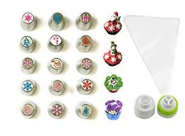 Amazon JJMG NEW Russian Icing Piping Tips Christmas Design For