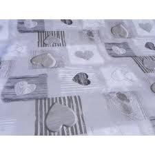 nappe toile ciree au metre toille cireè motif petit ceour grise nappe toile cireè grise toile