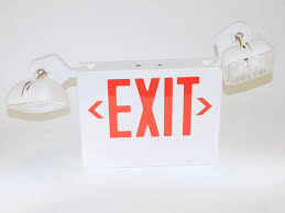 led exit sign 120 to 277v with emergency lights scli2rw