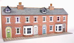 100 What Is A Terraced House N Scale Low Relief Red Brick Fronts
