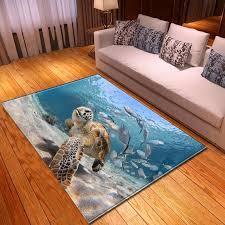großhandel modern fashion salon 3d bereich teppich ozean sea turtle esszimmer mat bettvorleger soft flanell und teppich für heim wohnzimmer