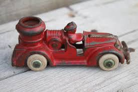 100 Antique Toy Fire Trucks Small Arcade Cast Iron Pumper Truck With Nickel Plated Etsy