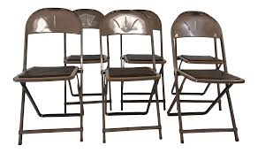 Vintage Industrial Steel Folding Chairs - Set Of 6 | Chairish Metal Folding Chairs Walmart Interiordedircom Antique Grey Vintage Garden Bistro Table And 2 Homegenies White Chippy Paint Ding Chair Heirloom Home Sustainable Slow Stylish A Plywood Scaramangas Industrial Fniture Scaramanga Louis Rastter Kumfort Brown Sold Pair Of Etsy One Hospital Foldable Peak Event Services Black Wood Wedding Slatted Shop Osp Furnishings Bristow Steel Finis