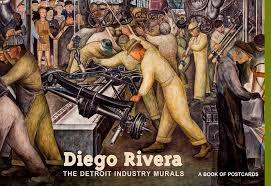 Diego Rivera Rockefeller Mural by Diego Rivera The Detroit Industry Murals Book Of Postcards