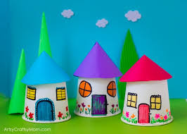 Paper Cup Miniature Village Craft Recreate Your Childhood