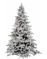 Snow Flocked Slim Christmas Tree by Flocked Christmas Trees Bhg Com Shop