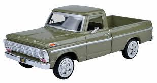 100 Toy Ford Trucks 1969 F100 Pickup Truck Green 124 Diecast Car Model By