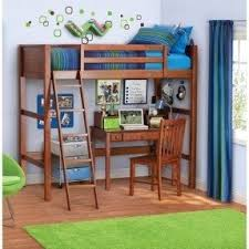 bunk bed with table underneath foter