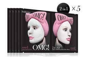 Step2 Tan 2 In 1 by Omg 2in1 Kit Detox Bubbling Microfiber Mask Double Dare
