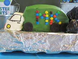 Garbage Truck Cake - Made By Myself, A Cake Novice, On The First Try ...