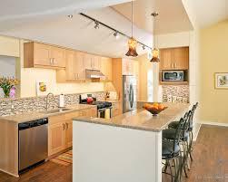 cabinets modern kitchen with custom blown pendant lights