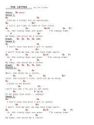 The Letter Chords Lyrics Joe Cocker Starengineering