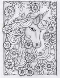 Unicorn Greyscale Drawing Unedited Pen And WatercolorUnicorn Colouring PagesColoring
