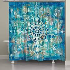 lv 1 stück blau grün bohemian mandala muster duschvorhang