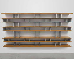 awesome wall bookshelves design feature oak wood with and aluminum