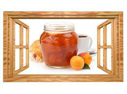 3d wandtattoo aprikose pfirsich marmelade kaffee küche frühstück tapete wand aufkleber deko wandbild wandsticker 11n1746 wandtattoos und
