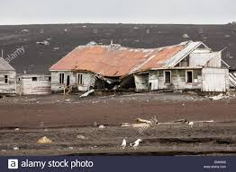 100 Antarctica House Ruined House Whalers Bay Deception Island Stock Photo
