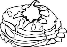 Pancake Coloring Sheet Food ColoringSheets Pancakes Breakfast