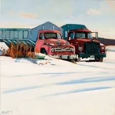 100 Trucks In Snow VEHICLES Scott Hewett Fine Art