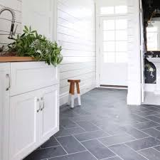 Cottage Interior With Slate Flooring