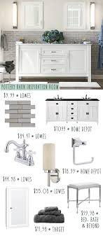 Pottery Barn Bathroom On A Budget - Knock Off Style | Money Saving ... Barn Tin Bathroom Country Homes Pinterest Pottery Sussex Triple Sconce Bitdigest Design Bathroom Bed Bath Fniture Monogrammed New York 11 Terrific Vanities For Inspiration Our Vintage Home Love Master Redo Featuring Reclaimed Wood Cabinets Crate And Barrel Vanity Cabinet Cldcepartnershipsorg Bathrooms Restoration Sinks Style Farm Sink Console Look