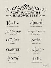 A Collection Of Elegant Handwritten Fonts