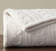 Cozy Cable Knit Throw
