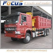China 40t Payload Heavy Sino HOWO Tipper Dump Truck With Crane ...