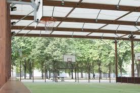 terrain de basket exterieur basket plein air couvert tempéré construction de salles et