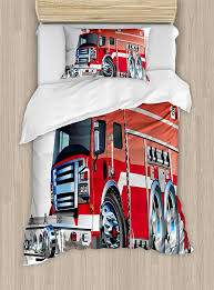 100 Fire Truck Bedding Amazoncom Ambesonne Cars Duvet Cover Set Twin Size Big