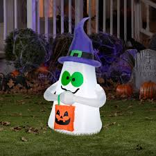 Halloween Blow Up Decorations For The Yard by Airblown Inflatables Outdoor Ghost With Candy Tote Small
