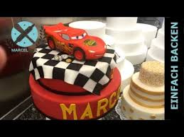 2 stöckige cars motivtorte cars torte selber machen mit anleitung