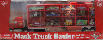 Amazon.com: Disney/Pixar Cars Mack Truck Hauler Carrying Case + 15 ...