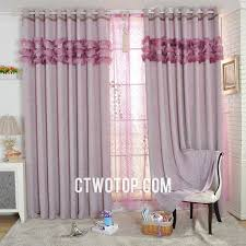 Pink And Purple Ruffle Curtains by Ligh Plum Ruffled Modern Patterned Designer Curtains And Drapes