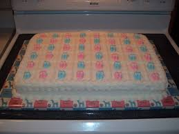 Baby Shower Sheet Cakes With Booties