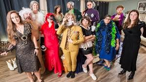 Guests Get Into Character For A Clue Board Game Theme Party With Costumes From Bonkers Games Tickle Trunk Giant Facebook