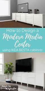 How to Design a Modern Media Center using IKEA BESTA cabinets