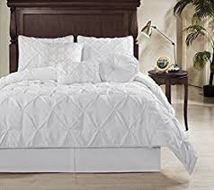 Bed Cover Sets by Amazon Com Chezmoi Collection Sydney 7 Piece Pintuck Duvet Cover
