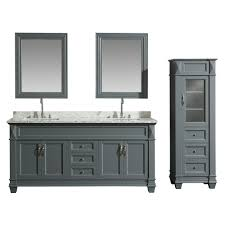 Design Element 72 In. W X 22 In. D Bath Vanity In Gray With Marble ... Design Element Dec076cw 48inch Single Bathroom Vanity Set In White Vanities How To Pick Them So They Match Your Style Beautiful Designs Alanlegum Home Zipcode Knutsen 24 With Mirror Glesink Hgtv Stanton 32 Sink Dropin 40 Modern That Overflow With 72 Double W Vessel 13 Ideas For Master Bathrooms Luxury To Maximize Small Overstockcom
