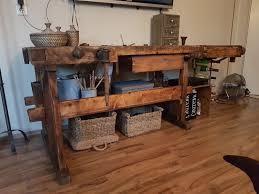alte hobelbank aufgearbeitet ziert jetzt mein wohnzimmer