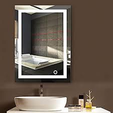 mupai badspiegel led badezimmerspiegel beleuchtet bad spiegel wandspiegel weiß c 50x70cm