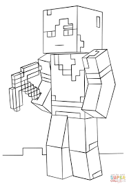 Minecraft Coloring Pages Steve Diamond Armor Elegant Skeleton And Arrow From Game Page Of