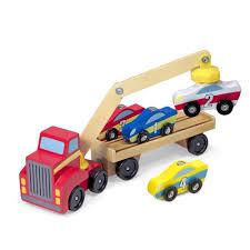100 Big Truck Adventures 3 Amazoncom Melissa Doug Magnetic Car Loader Wooden Toy Set Cars