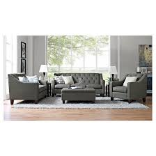 Tufted Sofa And Loveseat by Felton Tufted Sofa Gray Threshold Target