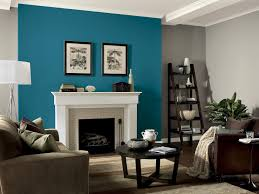 turquoise and brown living room