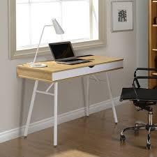 Techni Mobili Desk W Retractable Table by Techni Mobili Workstation With Cord Management And Storage In Pine