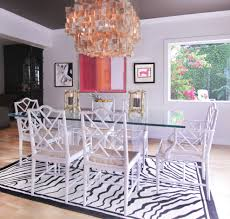 Lucite Dining Table Room Eclectic With Abstract Art Beach House Image By Whitepop Design
