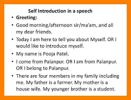 10 introduce myself speech