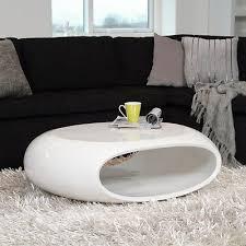 design couchtisch space fiberglas tisch oval weiss hochglanz